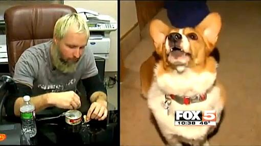 Protesta: come comida de perro para denunciar malos hábitos alimenticios