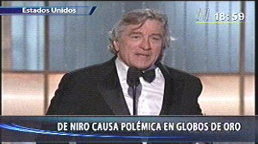 De Niro no quiso ser ofensivo sino divertido en los Globos de Oro