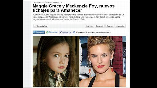 """Sepa quién será la hija de 'Bella' y 'Edward' en la película """"Amanecer"""""""