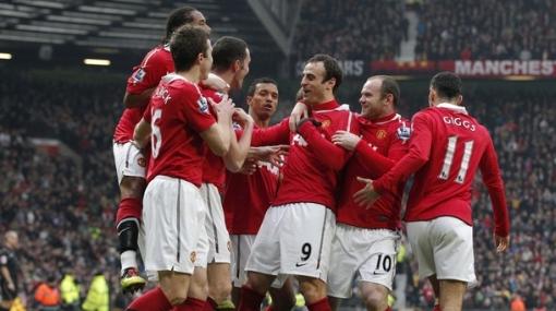 Manchester United metió cinco goles y es más líder que nunca