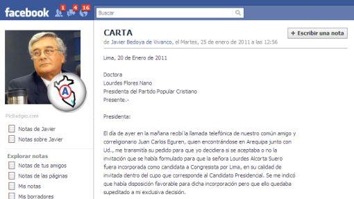 Bedoya rechazó posible inclusión de Alcorta en lista congresal