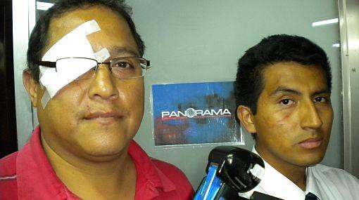 Periodistas de Panamericana TV fueron víctimas de violenta agresión