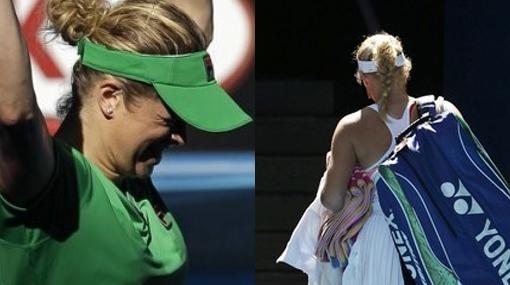 Clijsters llegó a la final en Australia y Wozniacki quedó en el camino