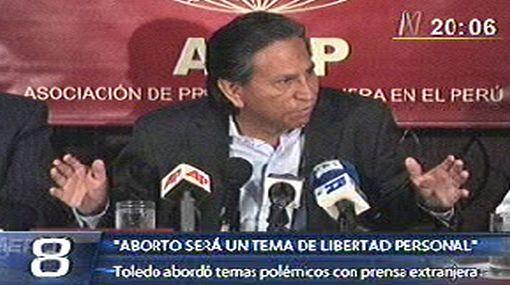Toledo hizo polémicas declaraciones sobre consumo de drogas y aborto