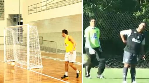 VIDEO: jugador de futsal de Brasil retó a Ronaldinho