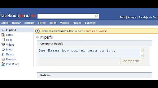 Joven de 20 años creó la versión peruana de Facebook