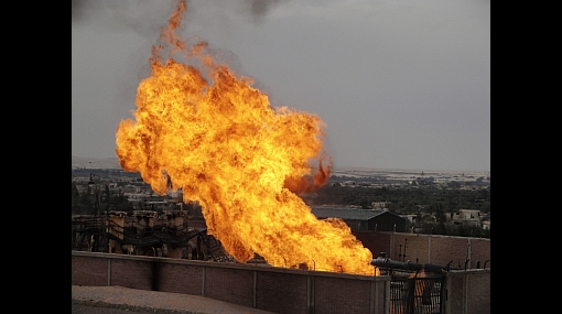 Incendio provocó estallido de gasoducto en Egipto