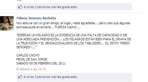 """Carlos Cacho pide no dramatizar su situación: """"¡Sí, estoy preso señores!"""""""