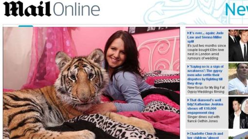 """Adolescente que duerme con un tigre: """"Es como criar a un perro"""""""