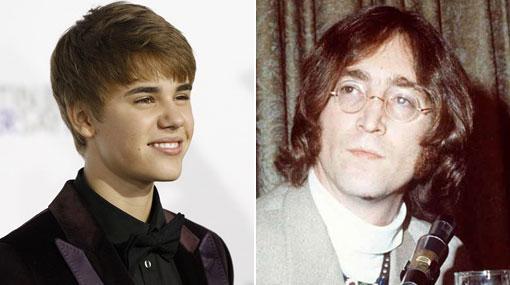 Justin Bieber y John Lennon, los famosos más buscados por los niños