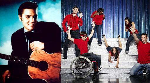 """El reparto de """"Glee"""" destronó a Elvis y bate su récord en Billboard"""