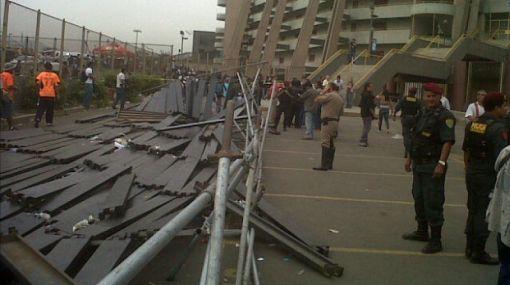 Accidente en el Monumental: Policía levantó acta e iniciará investigación