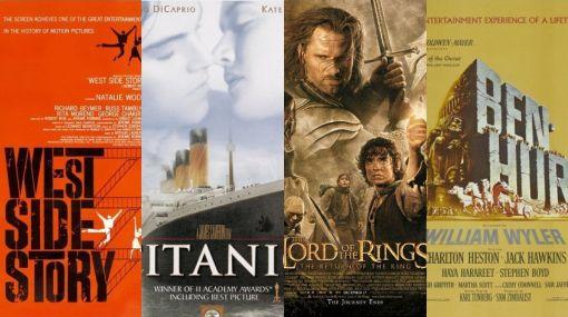 Estos son los filmes más ganadores de la historia de los Óscar