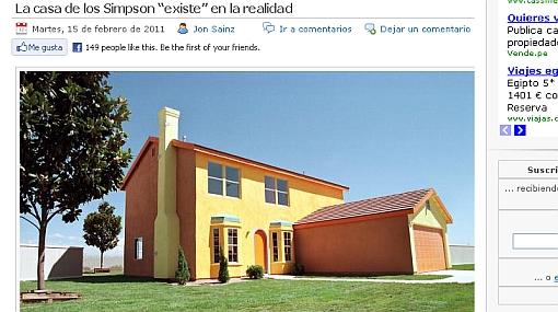 """La 'verdadera' casa de """"Los Simpson"""" se encuentra en Nevada"""