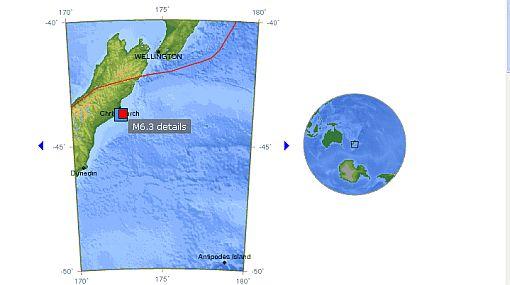 Sismo de 6,3 grados dejó varios muertos en costa de Nueva Zelanda