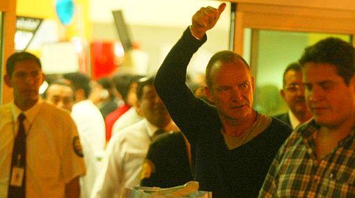 Sting ya se encuentra en Lima para dar un espectacular concierto