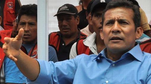 Humala propuso crear banco minero para acabar con la informalidad del sector