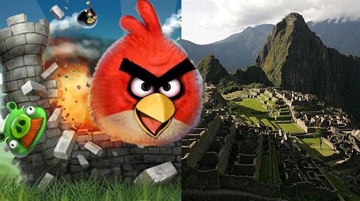 Evalúan hacer versión de Angry Birds por centenario de Machu Picchu