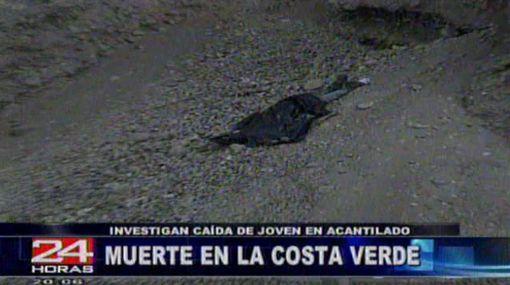 Un joven fue hallado muerto en acantilado de la Costa Verde