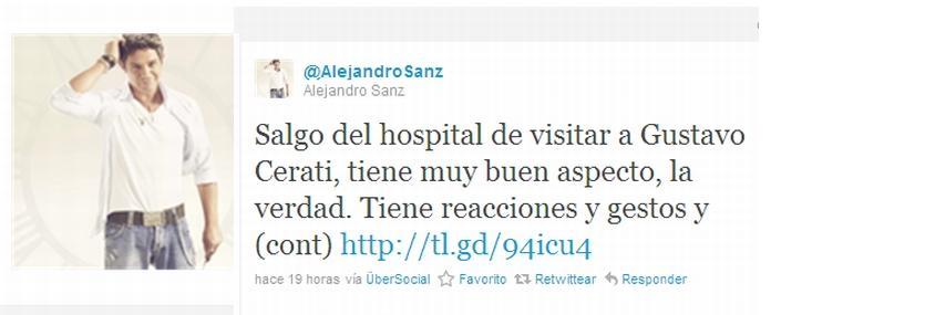 """Alejandro Sanz tras visitar a Cerati: """"Me parte el alma escucharlo tan en silencio"""""""