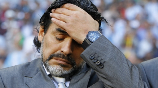 Maradona no ve un partido de Argentina desde que fue echado como DT