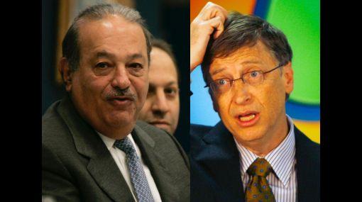 Carlos Slim es más rico que Bill Gates por casi US$20 mil millones