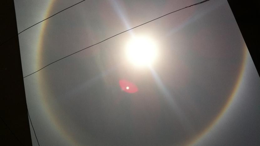 FOTOS: el halo solar que adornó el cielo de Lima