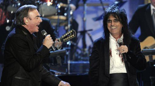 Neil Diamond, Alice Cooper y Tom Waits en el Salón de la Fama del Rock
