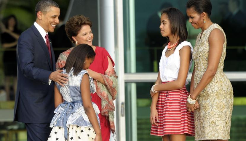 FOTOS: visita de Barack Obama a Brasil despertó rechazo en parte de la población