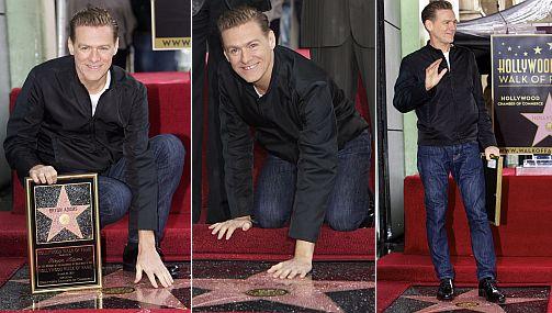 Bryan Adams ya tiene su estrella en el Paseo de la Fama de Hollywood