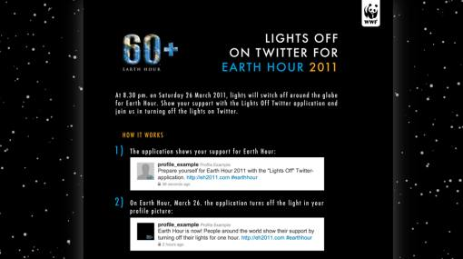 "Twitter se suma a ""La hora del planeta"" a través de novedosa aplicación"