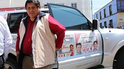Congresista de Gana Perú usó fondos del Estado en su campaña
