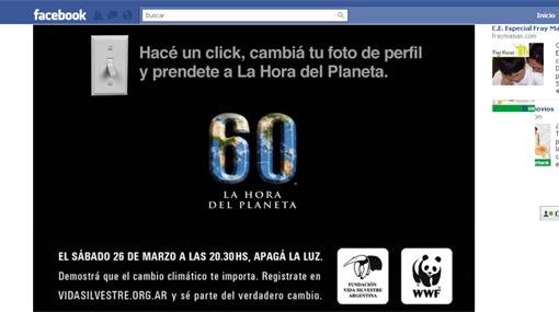 """'Apaga' tu Facebook y participa en """"La hora del planeta"""""""
