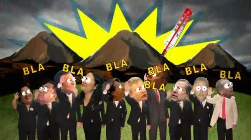 Huaico se lleva a los 10 candidatos en videoclip por el cambio climático