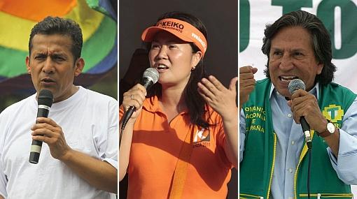 Encuesta de CPI: Humala 21,2%, Keiko 19%, Toledo 18,6% y PPK 16,1%