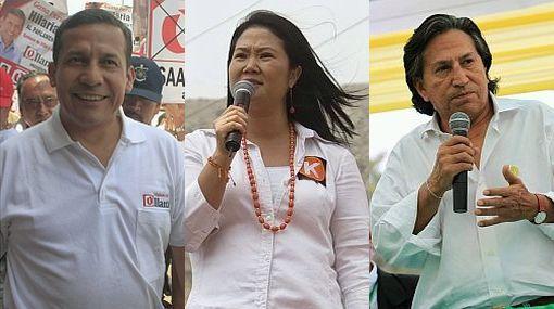 Ipsos Apoyo da triple empate: Humala 22,8%, Keiko 22,3% y Toledo 21,6%