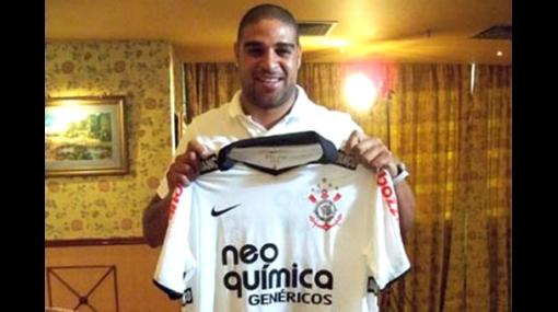 Es oficial: Adriano jugará junto a 'Cachito' Ramírez en Corinthians