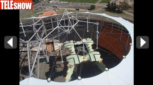 U2 comenzó a instalar su espectacular escenario en Argentina