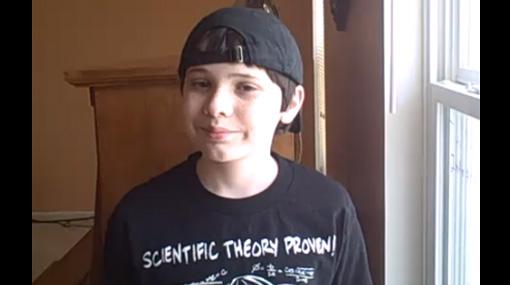 Niño genio de 12 años elabora su propia teoría de la relatividad