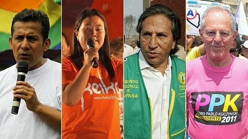 Encuesta Ipsos Apoyo: Humala 27,2%, Keiko 20,5%, Toledo 18,5% y PPK 18,1%