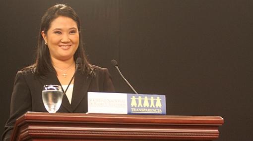 Keiko Fujimori no descarta a ningún partido para formar alianzas