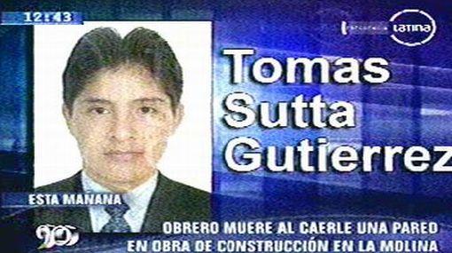 Obrero falleció tras derrumbe en una construcción de La Molina