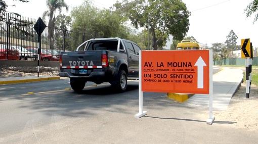 La Av. La Molina será mañana de un solo sentido debido a elecciones