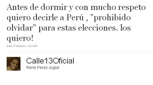 """Vocalista de Calle 13: """"Quiero decirle al Perú: Prohibido olvidar"""""""