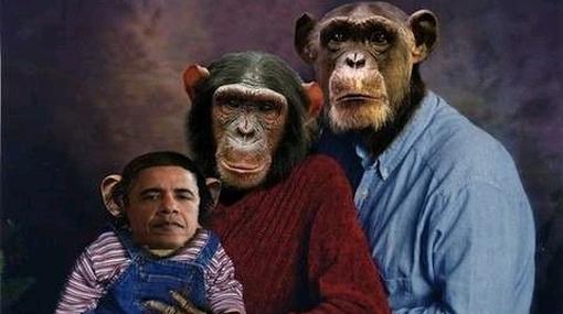 Republicana difunde fotomontaje de Obama como hijo de monos
