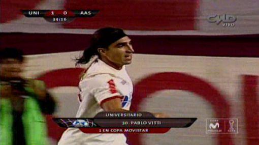 Pablo Vitti marcó su primer gol con la 'U' y le dio el triunfo a la crema