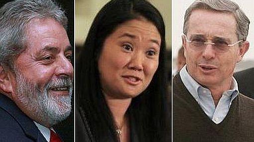Keiko afirma tener influencia de ex mandatarios Lula y Uribe