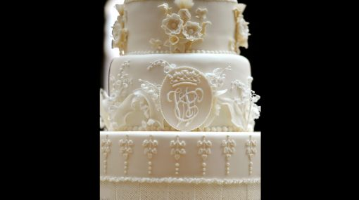 La torta de matrimonio de Guillermo y Catalina tuvo ocho pisos