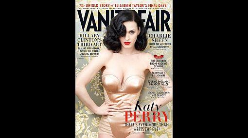 Katy Perry lucirá un atrevido escote en la última portada de Vanity Fair