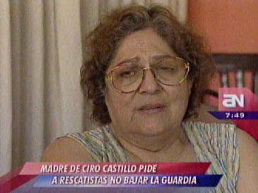 """Mamá de Ciro Castillo Rojo sobre su hijo: """"Lo imagino en una cueva, echadito"""""""